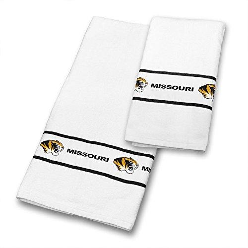 Sports Coverage NCAA Missouri Tigers Towel Set, 30 x 54, White