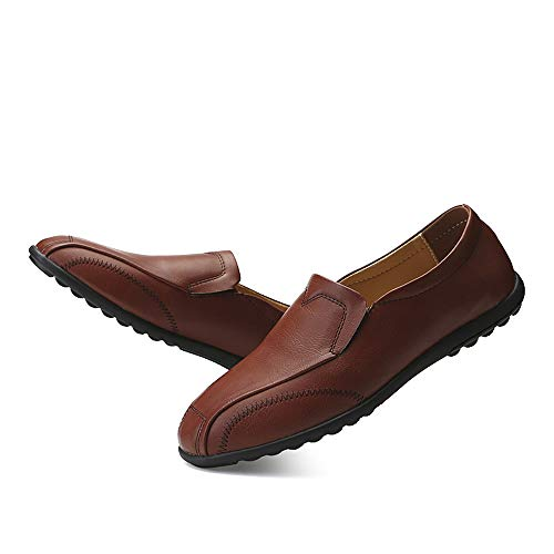 Traspirante da Lofer Morbida Business in Casual con Pedale Un Pelle Leggero Marrone Scarpe Uomo Cricket Oxford da Rw1x5x78
