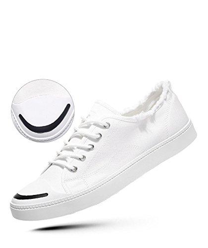 WFL marea degli scarpe bianche scarpe casual da di stoffa uomini piccole scarpe selvatici bianca di scarpe Scarpe tela uomo bianca estiva rvwqPSr8