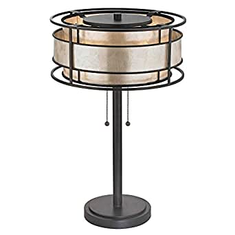 Bronze Table Lamp with Mica Shade - - Amazon.com