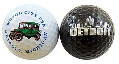 Westman Works Detroit Michigan Golf Balls Set of 2 Souvenir Golfer Gift Set
