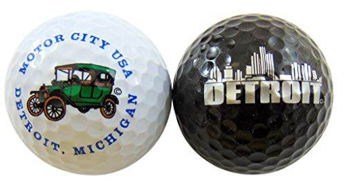 - Westman Works Detroit Michigan Golf Balls Set of 2 Souvenir Golfer Gift Set