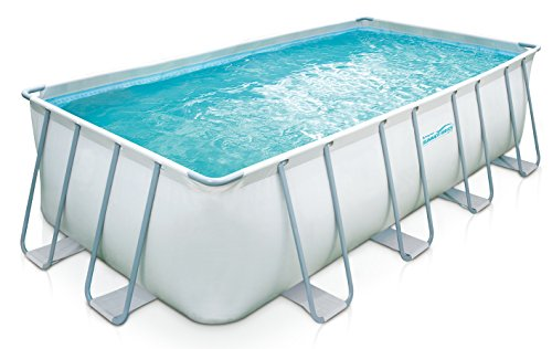 Summer Waves Elite 18 x9 x52 Rectangular Frame Pool with 10 Sand Filter Pump system