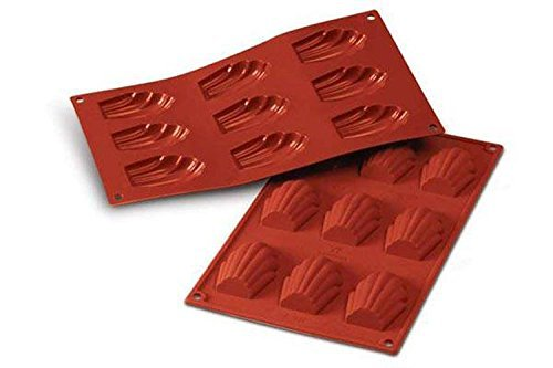Silikomart SF032/C Silicone Classic Collection 9 Count Madeleine Pan, Large