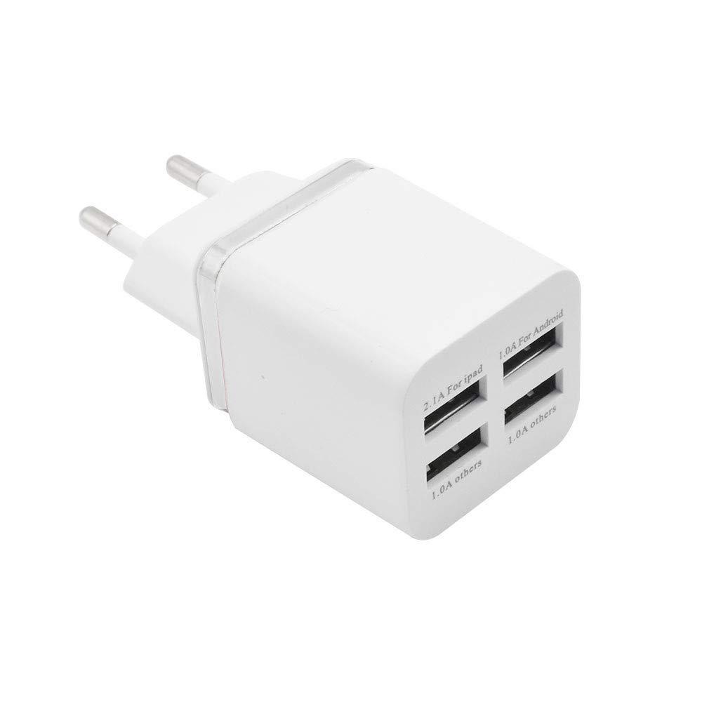 Vimoli Adaptador Móvil Rápido 4 Puertos USB Cargador Rápido ...