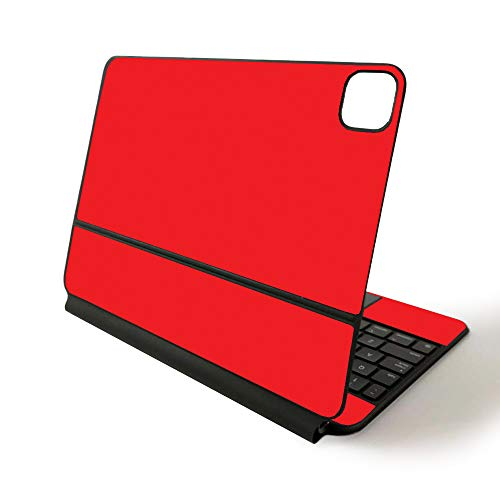 MightySkins Skin for Apple Magic Keyboard for iPad Pro 11-inch (2020) - Sushi | Protective, Durable, and Unique Vinyl Decal wrap Cover, Solid Red (APIPSK1120-Solid Red)