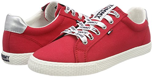 Red Femme Sneakers Sneaker Rouge 611 Tommy Jeans Casual tango Basses wqURq78v