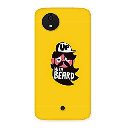 wholesale dealer 6c877 03289 Beard Up Back Case Cover for Micromax Canvas A1: Amazon.in: Electronics