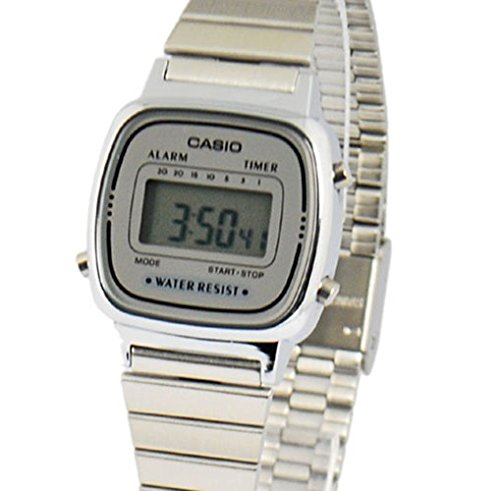Casio Women's LA670WA-7 Silver Tone Digital Retro Watch
