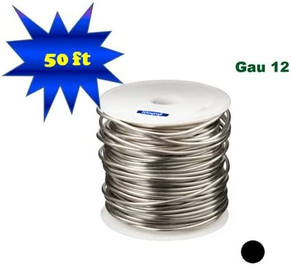 Silver Plated Copper Round Wire 12 Gau 50 Ft 1 Lb Spool Jewelry Making Findings