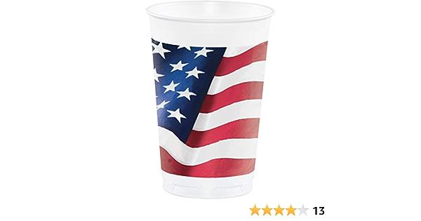 Patriotic Freedom/'s Flag 16oz Plastic Cups