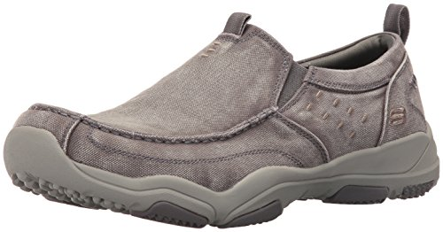 Skechers USA Uomo Larson Bolten Slip-On Loafer, tela grigia