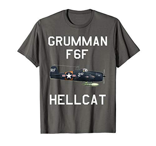 (Grumman F6F Hellcat Military Navy Airplane T-Shirt)