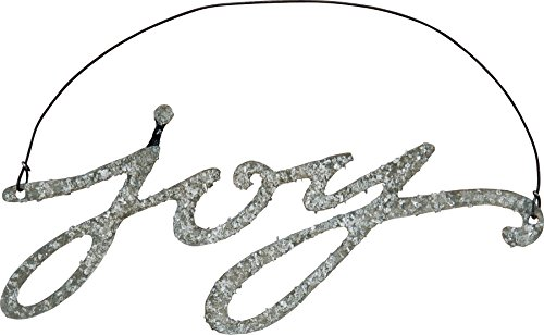 Primitives By Kathy Phil Chapman 4.75 inches x 2 inches Tin Word Ornament - Joy -