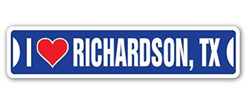 I Love Richardson Texas Street Sign Tx City State Us Wall Road Gift 2PCS (Party City Richardson)