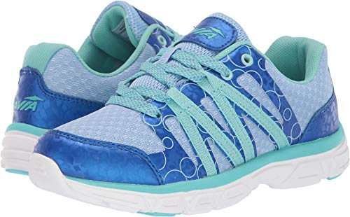 Avia Girl's Avi-Rhea Shoe, Cambridge Blue/Snorkel Blue/Aruba Aqua, 1 Medium US Little Kid -