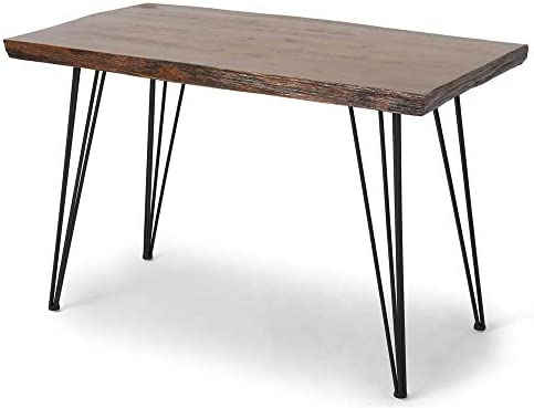 Noble House Chana Live Edge Rectangular Dining Table In Natural Finish