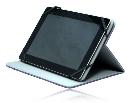 Navitech Purple Faux Leather Case Cover With 360 Rotational Stand For The Acer Aspire Iconia Tab A200 /A210/ A211 /A500 /A510 /A700 / W510