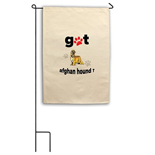 RENJUNDUN Canvas Yard House Garden Flag Got Afghan Hound Dog Flag Only