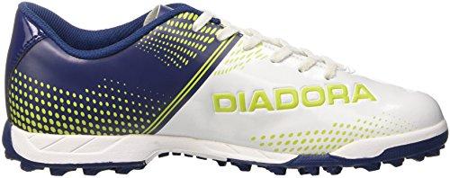 Diadora 830 Iii Tf, Botas de Fútbol para Hombre Bianco (Bianco/Blu Estate)
