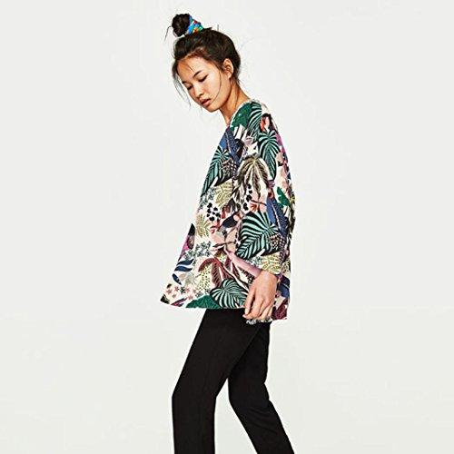 Ample avec Cover Veste Blouse Bohme Femmes Fringe Imprime Yogogo Multicolore Up Mousseline w4af4F