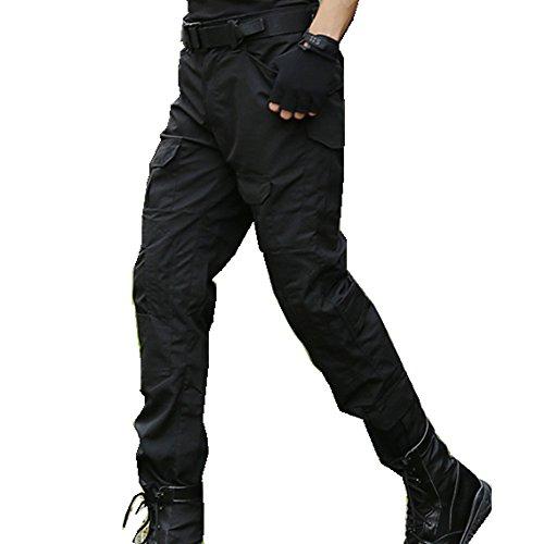 haoYK Pantalon Militaire Paintball BDU Pantalon Airsoft Pantalon Polyvalent avec genouillères 4