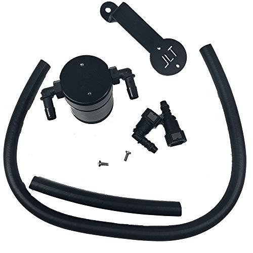 (JLT Oil Separator 3.0 Passenger Side, Black Anodized (2005-10 Mustang GT; Bullitt;Saleen))