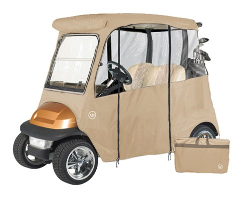 GreenLine Club Car Precedent 2 Passenger Drivable Golf Cart Enclosure - Bunker Sand by GreenLine (Image #1)