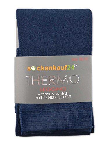 in termici interno pile da caldi Extra Donna blu Leggings navy con sockenkauf24 75YfwaXwq