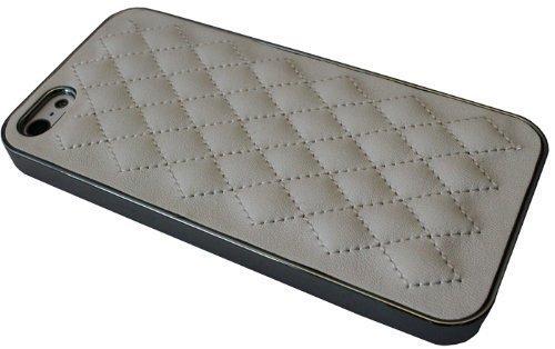 avci Base 4260310649474PU basse Coussinets simili Étui de protection en cuir pour Apple iPhone 5Chromé Blanc