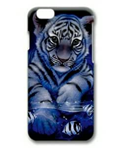 iphone 4 4s Case, Cute Baby White Tigers Case for iphone 4 4s 3D Hard Plastic PC Material