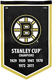 NHL Boston Bruins Victory Banner, 12 x 18-inches