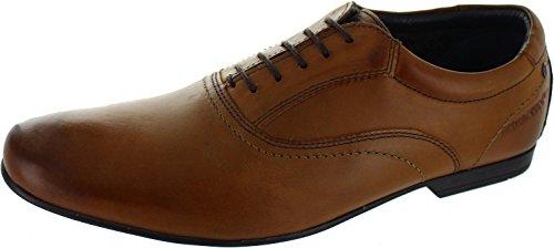 Base London  Dude Mto, Chaussures de ville à lacets pour homme marron marron