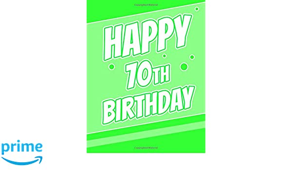 Happy 70th Birthday Better Than A Card Password Keeper Or Notebook Groovy Green Record Email Address Usernames Passwords Security