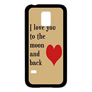 I Love You to the Moon And Back Personalized Custom Phone Case for SamSung Galaxy S5 mini (Laser Technology) Hard Case Cover Skin