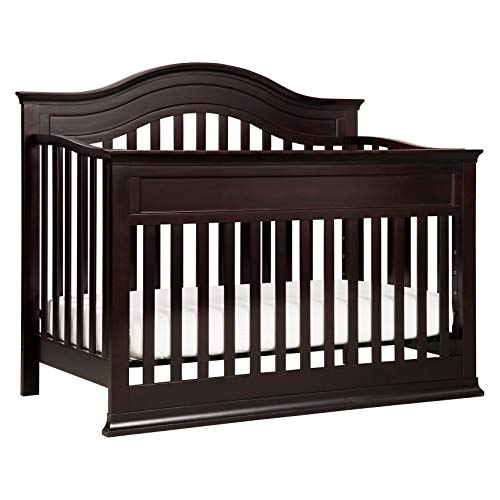- DaVinci Brook 4-in-1 Convertible Crib with Toddler Bed Conversion Kit, Dark Java