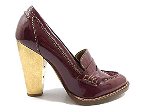 chaussures femme DOLCE & GABBANA 35 EU escarpins bordeaux cuir verni AY567