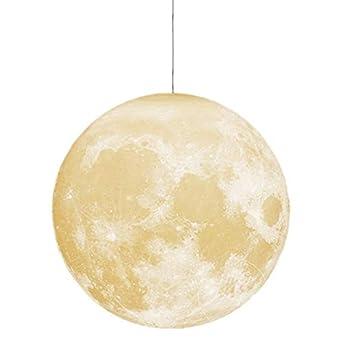 Araña nórdica, lámpara de luna de luna de dormitorio con impresión ...