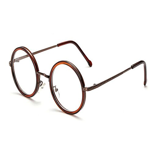 luz FuyingdaGafas la lentes azul de vendimia Lentes de redondas Men de de ovales Vidrios Gafas transparentes Marrón Sra filtro wSqS1ntgrR