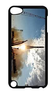 Ipod 5 Case,MOKSHOP Cute Soyuz Rocket Launch Hard Case Protective Shell Cell Phone Cover For Ipod 5 - PC Black