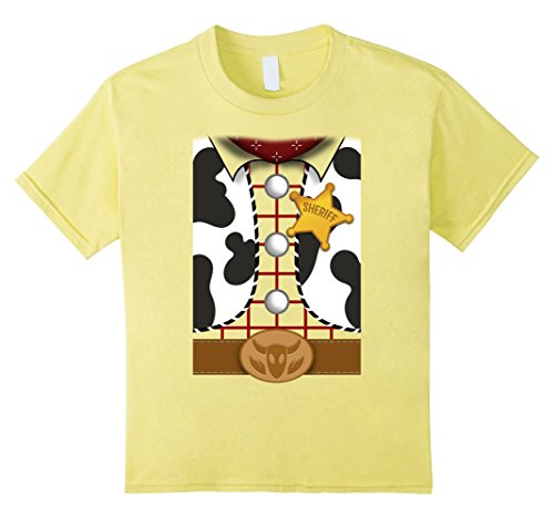 Kids Disney Pixar Toy Story Woody Shirt Costume Graphic T-Shirt 4 Lemon