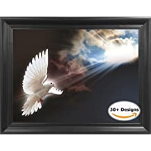 White Dove Framed 3D Lenticular Picture - Unbelievable Life Like 3D Art Pictures, Lenticular Posters, Cool Art Deco, Unique Wall Art Decor, With Dozens to Choose From!