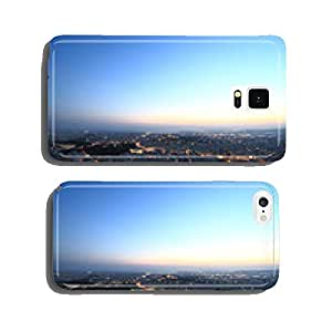 Cityscape aerial view at night, Athens Greece cell phone cover case Samsung S5