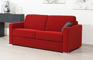 Schlafsofa Nova Al 143x200cm Zweisitzer Mit Schlaffunktion Rot Von Reposa Top Qualitat Made In Germany