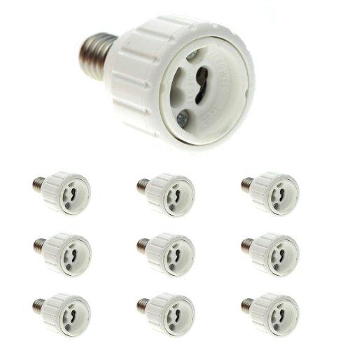 10 pcs casquillo adaptador E14 en GU10 para bombillas LED: Amazon.es: Iluminación