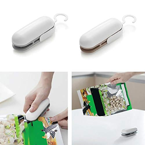 Chainscroll Dispositivo de Sellado de Bolsas de Alimentos portátil práctico Manual para el hogar Batidoras, Robots de…