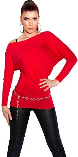 KouCla - Jerséi - para mujer Rojo