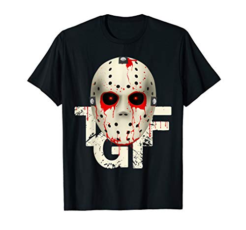 T-G-I-F Hockey Mask Halloween costume T-Shirt Tee]()