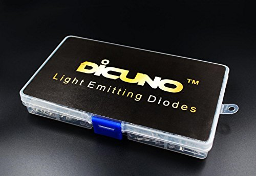 DiCUNO-400pcs-3mm-Light-Emitting-Diode-LED-Lamp-Assorted-Kit-White-Red-Yellow-Green-Blue-Yellow-Round-UV-Lights-5-colors-x-80pcs