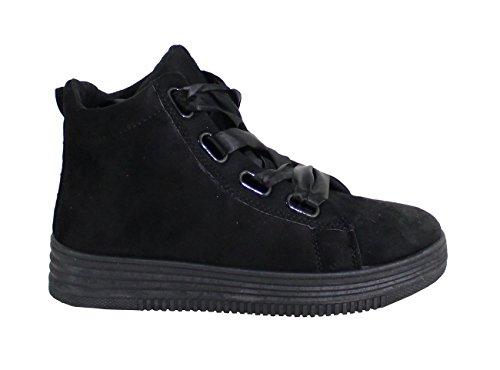 Shoes Tennis By avec Daim Femme Plateforme Style dqwq5